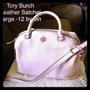 Tory Burch leather satchel large GORGEOUS!